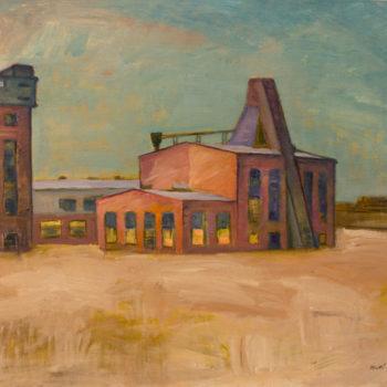Teoksen nimi: Autio tehdas, 1990