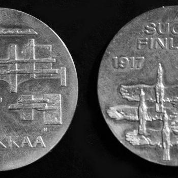 Teoksen nimi: Suomen itsenäisyyden 50-vuotisjuhlaraha 1968