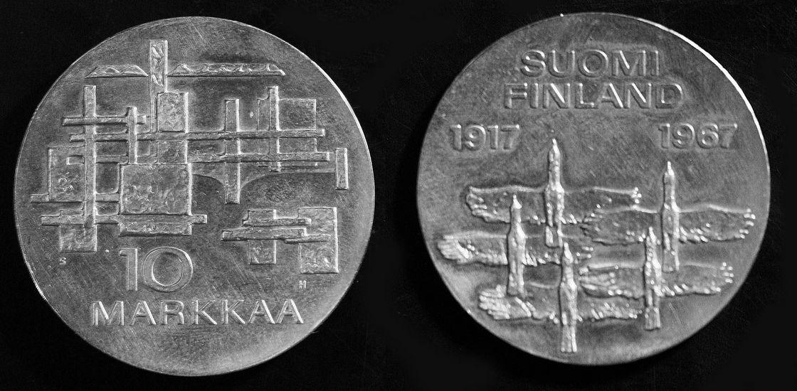 Suomen itsenäisyyden 50-vuotisjuhlaraha 1968