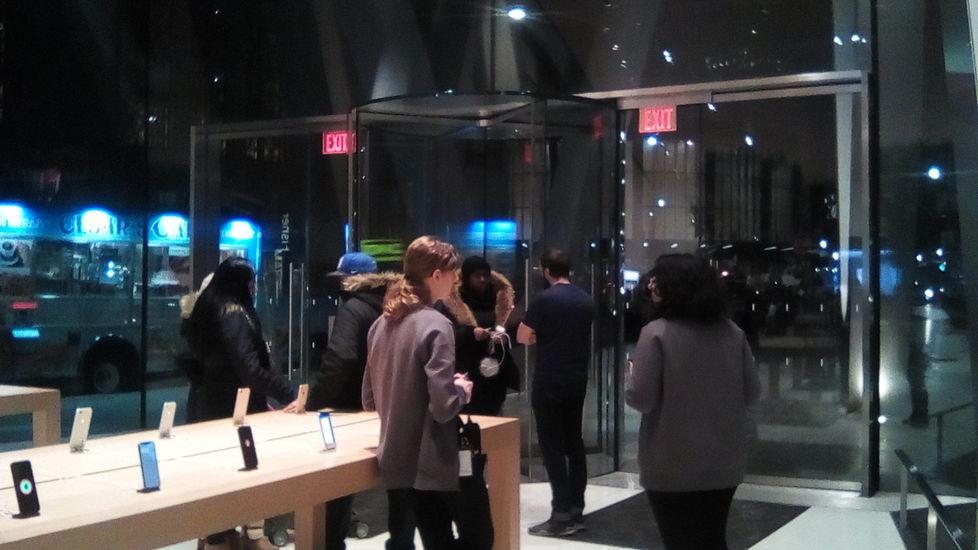 """Blue lights, Apple Store"" 2018"
