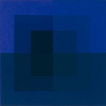 Teoksen nimi: Sininen (1975), Porin taidemuseo, kuva: Erkki Valli-Jaakola