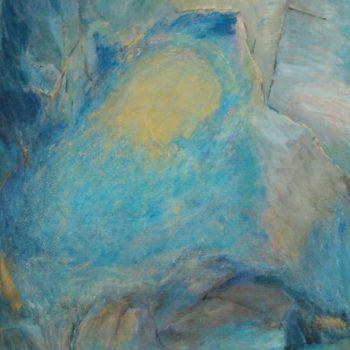 Teoksen nimi: Jumalan vuori  v. 2001   120 x 80 cm