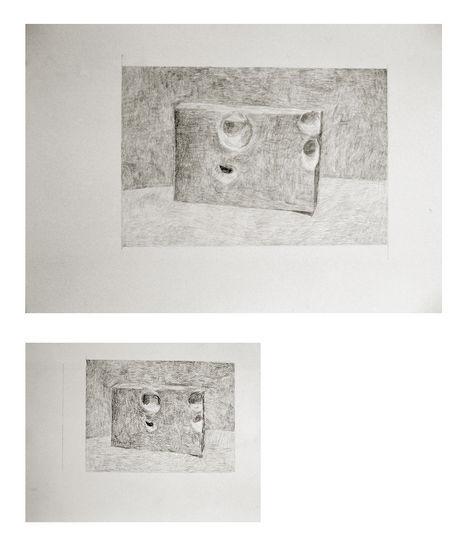 Reiät x 2    lyijykynä (2007)