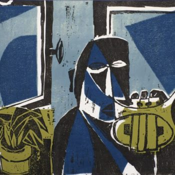 Teoksen nimi: Sininen hetki, 1940-l.
