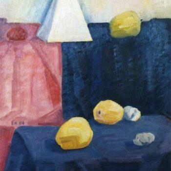 Teoksen nimi: Asetelma pyramiidin kanssa(II)
