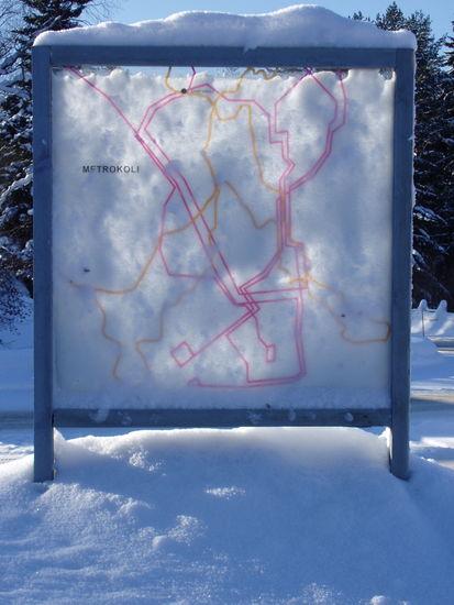 METROKOLI, julkinen ympäristötaideteos, Kolin kylä, 2008