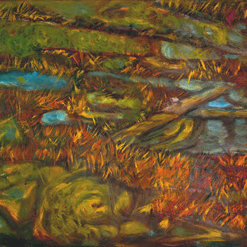 Teoksen nimi: Suolla,2012, öljy kankaalle, 50 x 70cm