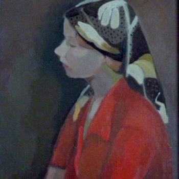 Teoksen nimi: Punapuseroinen nainen
