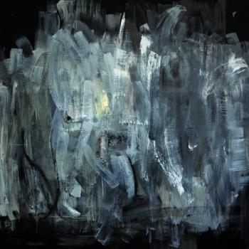 Teoksen nimi: Maalaus, 150x150cm, öljy kankaalle, 2012