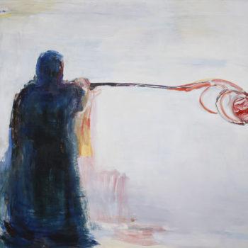 Teoksen nimi: Taiteilija maalaa pallon  / The Artist is Painting a Ball