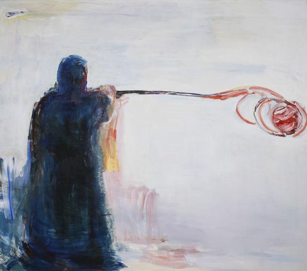 Taiteilija maalaa pallon  / The Artist is Painting a Ball