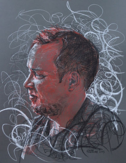 Rauli, 2013.Color chalk 65 x 50cm.