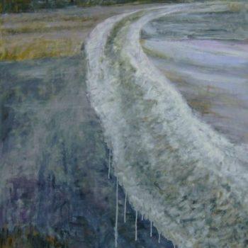 Teoksen nimi: Vettynyt jäätie   120 x 90 cm   v. 2009
