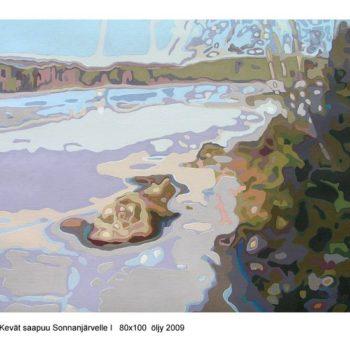 Teoksen nimi: Kevät saapuu Sonnanjärvelle I