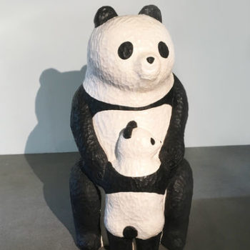 Teoksen nimi: Panda mom & child