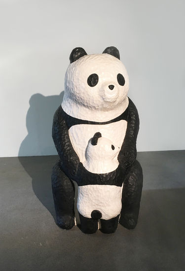 Panda mom & child
