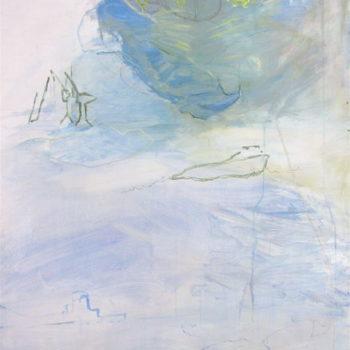Teoksen nimi: Sarjasta Nukkuva lapsi: Uni papukaijasta ja keltaisesta lentokoneesta – Painting from the series Sleeping Child: A Parrot and an Aeroplane (2010)