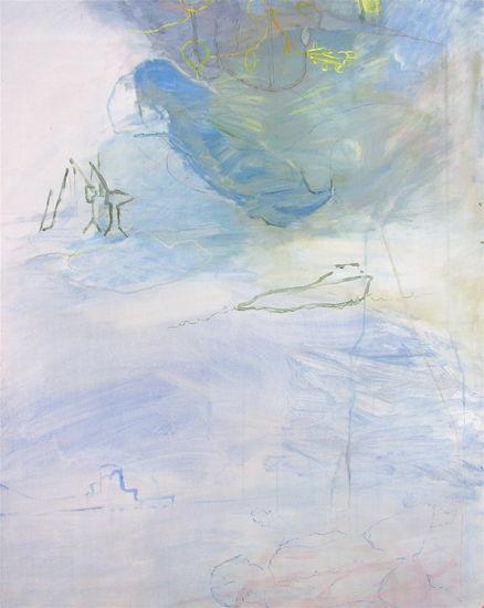 Sarjasta Nukkuva lapsi: Uni papukaijasta ja keltaisesta lentokoneesta – Painting from the series Sleeping Child: A Parrot and an Aeroplane (2010)