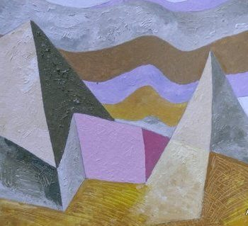 Teoksen nimi: Vuoristo(45×58)2009