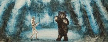 Teoksen nimi: Karhun ja kuoleman kohtaaminen
