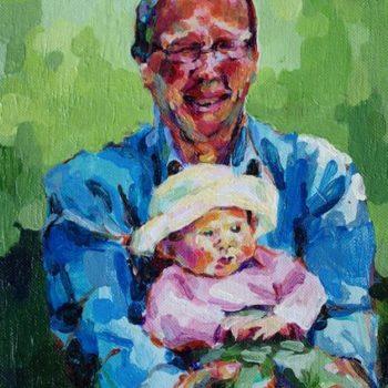 Teoksen nimi: tilaustyö, isä ja tytär