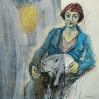 Name of the work: Portrait of my Wife and Dog