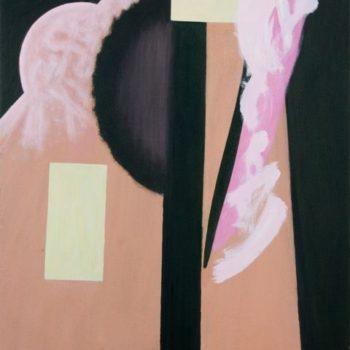 Teoksen nimi: Ja vaaleanvihreät pinnat – And lighgreens surfaces 2010 Akryyli kankaalle 92×81 Foto Dusan Jovanovic