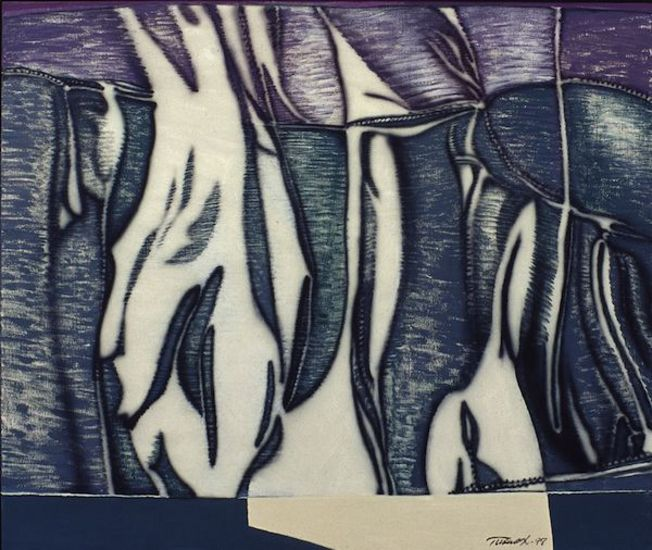 Katkaistu liike, akryyli kankaalle, 110×130 cm