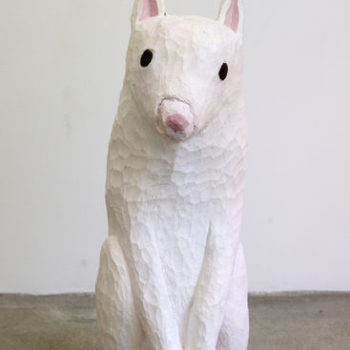 Name of the work: White dog