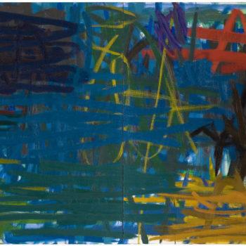 Teoksen nimi: Maalaus, 2003, öljy kankaalle, 130×330