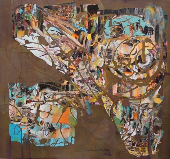 Lentävä linnoitus,2012,170 X 183cm,akryyli kankaalle