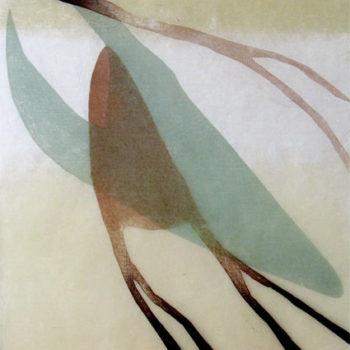 Teoksen nimi: Kuiskaus; puupiirros, 2005