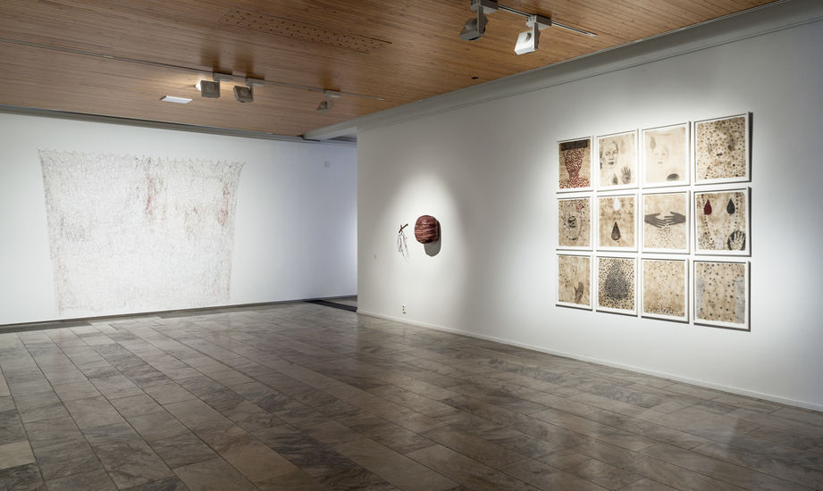 Näyttelykuva retrospektiivi 2016 Rovaniemen taidemuseo