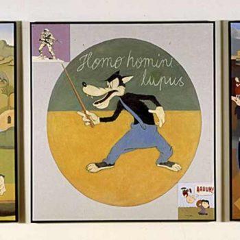 Name of the work: Homo homini lupus