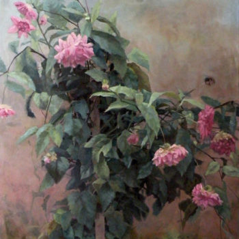 Teoksen nimi: Dahlia. Part 1,2011. Oil on canvas 130x100cm.