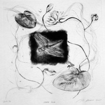 Teoksen nimi: Veden alla, 50 x 50, 2015