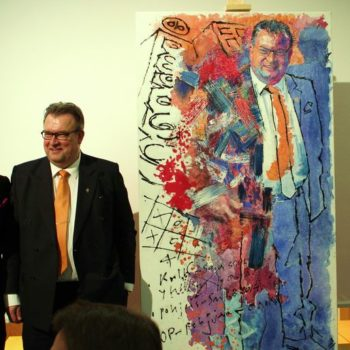Teoksen nimi: Muotokuva: Kauppaneuvos Jaakko Ojanperä   Portrait: Commercial Counsellor Jaakko Ojanperä