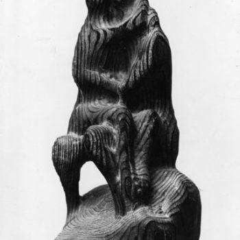 Teoksen nimi: Kaksin, 1966, puuveistos, korkeus 40 cm
