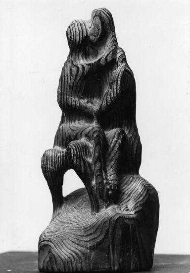 Kaksin, 1966, puuveistos, korkeus 40 cm