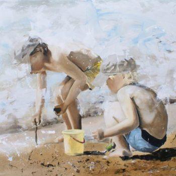 Teoksen nimi: Pojat rannalla