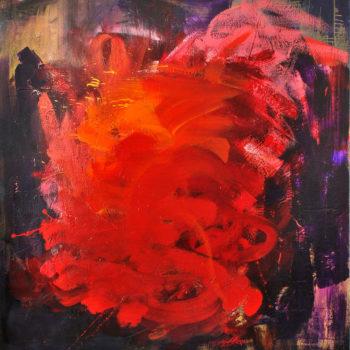 Teoksen nimi: Myrsky, 2015, öljy kankaalle, 140x140cm
