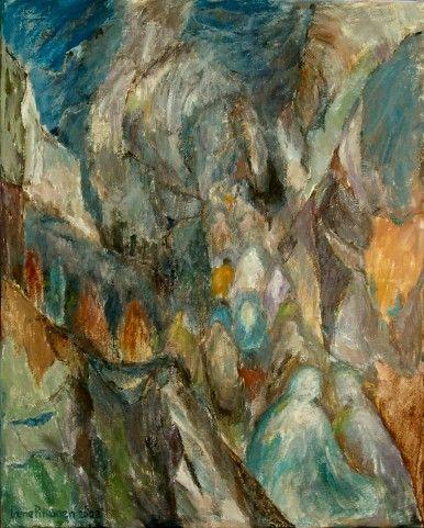 Afgaaninaisten pako  v. 2001  100 x 80 cm