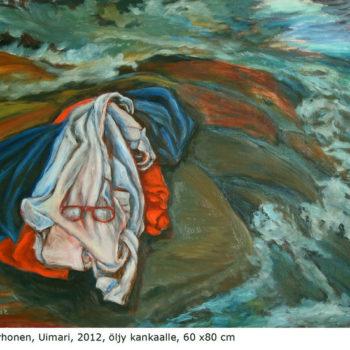 Teoksen nimi: Uimari, 2012,öljy kankaalle, 60×80 cm