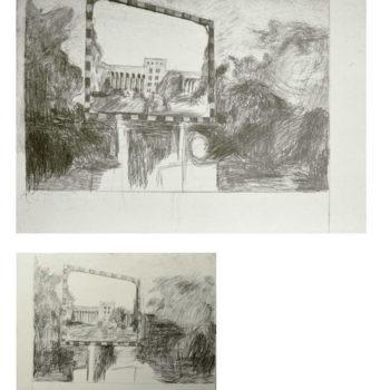 Teoksen nimi: Tempelhof x 2 lyijykynä (2007)