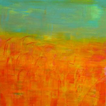 Teoksen nimi: Red reeds, green water