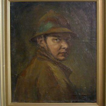 Teoksen nimi: Omakuva 1918