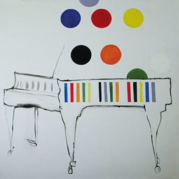Teoksen nimi: Elämän värit. Colors of Life. 120 x 120.