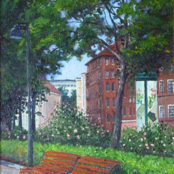 Teoksen nimi: Ruusuja Runeberginkadulla