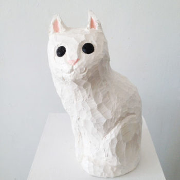 Name of the work: White cat