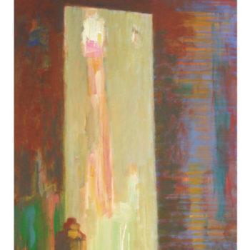 Teoksen nimi: Peilissä (In The Mirror), 2011, akryyli/acrylic, 100 x 70 cm